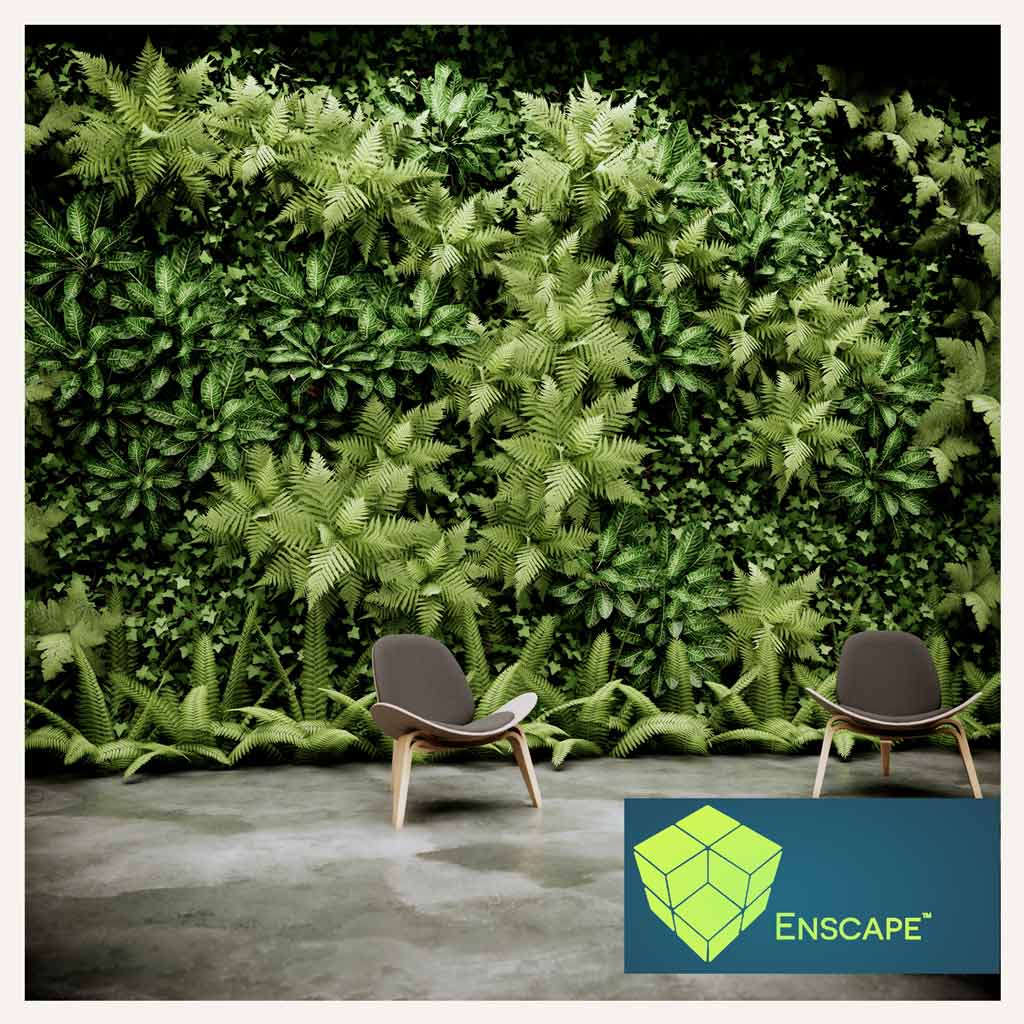 ترفند ساخت GreenWall با Enscape