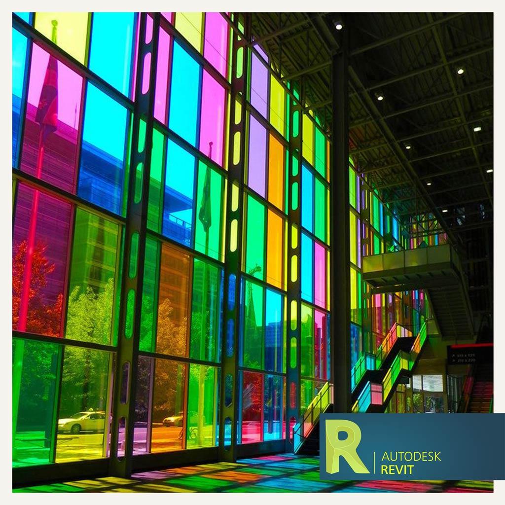 اموزش ساخت شیشه های رنگی در Revit
