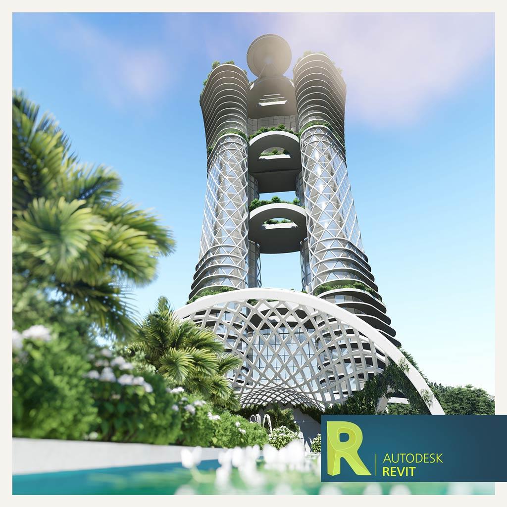 آموزش مدلسازی برج سبز در رویت