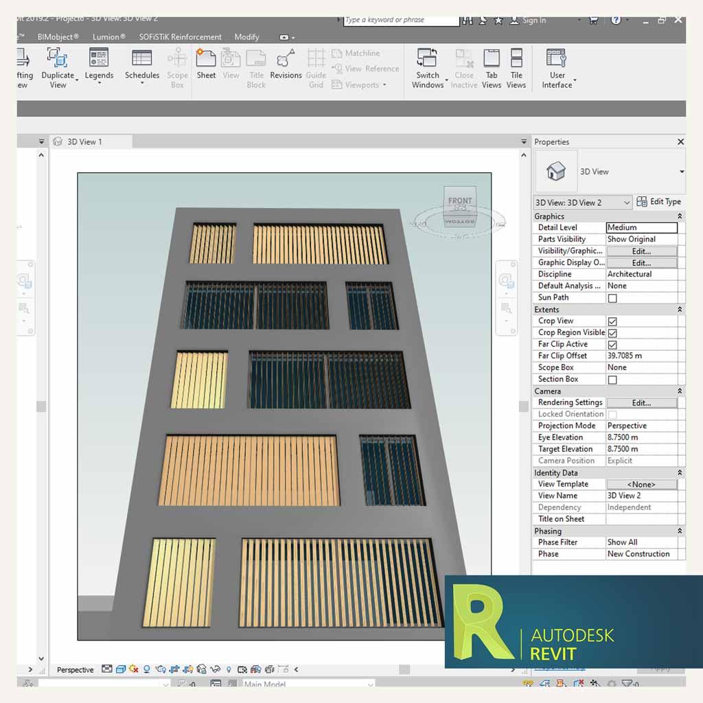 طراحی پنجره با لوورهای پارامتریک