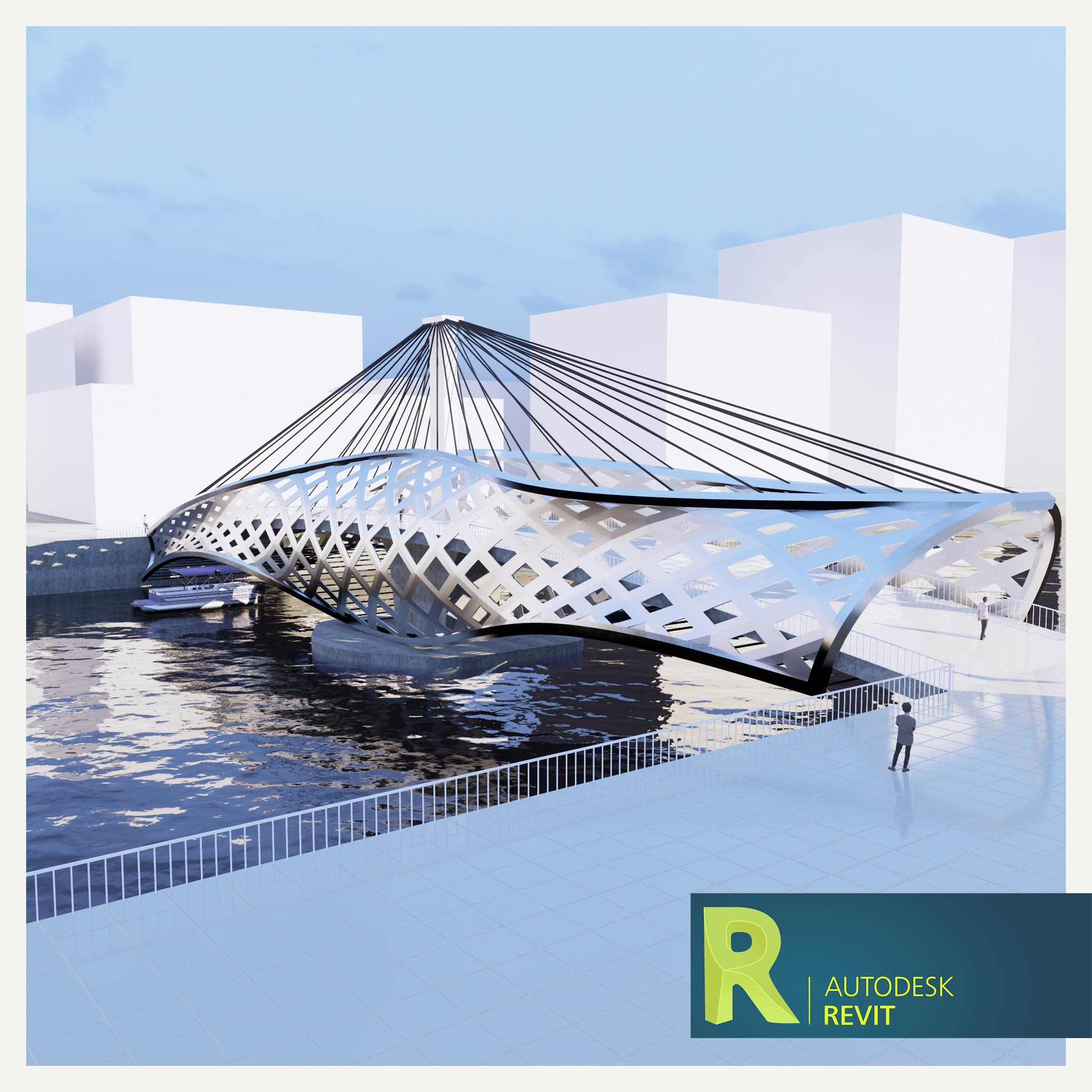 آموزش مدلسازی طراحی پوسته و سازه کابلی برای پل
