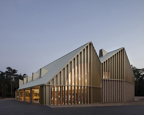 پروژه طراحی و اجرای پاویون پارک در پارک ملی  Hoge Veluwe